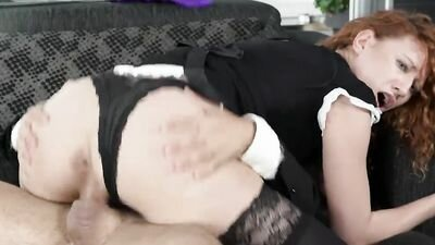 Bad maid cleaned the house for her rude ot'ebali fuck